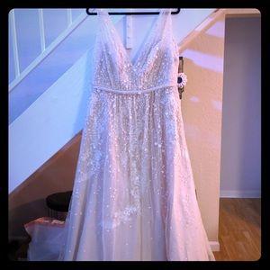 Deep V Aline Wedding Dress